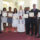 Eight youngsters were confirmed during a Service of Confirmation in April, 2015